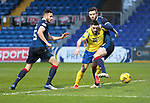 Ross County v St Johnstone…02.01.21   Global Energy Stadium     SPFL<br />Craig Conway is blocked by Jason Naismith <br />Picture by Graeme Hart.<br />Copyright Perthshire Picture Agency<br />Tel: 01738 623350  Mobile: 07990 594431