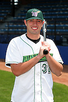 Jamestown Jammers Hunter Mense poses for a photo before a NY-Penn League game at Russell Diethrick Park on July 1, 2006 in Jamestown, New York.  (Mike Janes/Four Seam Images)