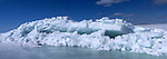 Ice pressure ridge on Great Slave lake