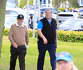 JP McManus is escorted by senior marshall Mark Feldston during the Pro-Am ahead of the 2016 Dubai Duty Free Irish Open hosted by The Rory Foundation and played at The K-Club, Straffan, Ireland. Picture Stuart Adams, www.golftourimages.com: 18/05/2016