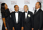 From left: Yolanda Adams, Dr. Don Rudley, Dr. Thomas Freeman and Roger Guenveur Smith at the TSU awards night at the Wortham Theater Thursday Oct. 01,2009. (Dave Rossman/For the Chronicle)
