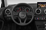 Car pictures of steering wheel view of a 2019 Audi A3 Sportsportback Sport 5 Door Hatchback