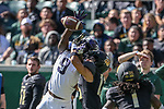 TCU Horned Frogs safety Atanza Vongor (9) in action during the game between the TCU Horned Frogs and the Baylor Bears at the McLane Stadium in Waco, Texas.