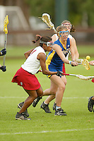 STANFORD, CA - MARCH 26: Nyerr Parham of the Stanford Cardinal during Stanford's 9-8 (OT) win over the Hofstra Pride on March 26, 2004 at Maloney Field in Stanford, California.