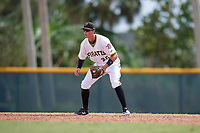 Pittsburgh Pirates Brett Pope (22) during an Instructional League game against the Detroit Tigers on October 6, 2017 at Pirate City in Bradenton, Florida.  (Mike Janes/Four Seam Images)