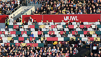 General view of the Media Area at Brentford FC showing the journalists in position during Brentford vs Liverpool, Premier League Football at the Brentford Community Stadium on 25th September 2021