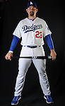 LA Dodgers Adrian Gonzalez (23) at media photo day on February 17, 2013 during spring training in Glendale, AZ.