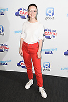 Sigrid<br /> poses on the media line before performing at the Summertime Ball 2019 at Wembley Arena, London<br /> <br /> ©Ash Knotek  D3506  08/06/2019