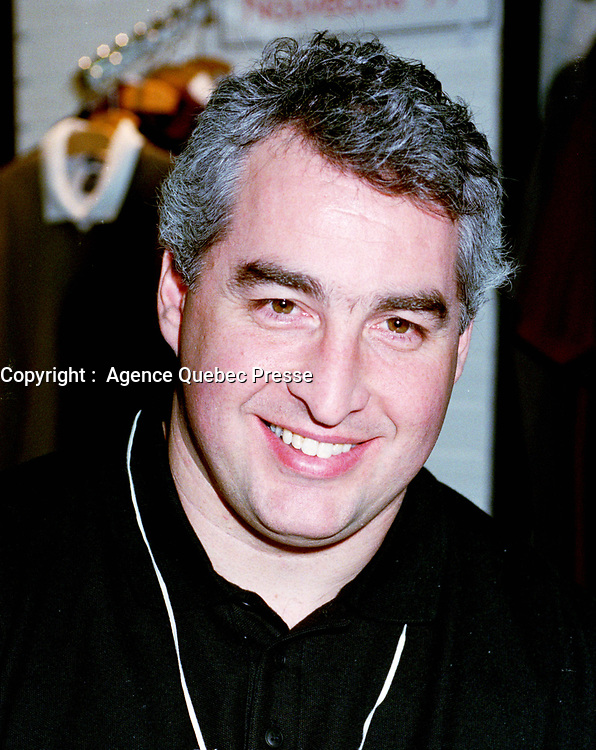 1999-01-19 File photo.Montreal.   <br />  Montreal's Alouette football player Pierre Vercheval during an autograph session on January 19, 1999 at the Montreal Sporting Goods  Show (now called `` Hockey Trades Expo ``) held each year in Montreal (Canada).<br /> <br /> Photo : (c) Pierre Roussel, 1999 /AQP