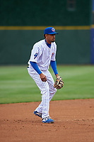 South Bend Cubs third baseman Christopher Morel (29) during a Midwest League game against the Cedar Rapids Kernels at Four Winds Field on May 8, 2019 in South Bend, Indiana. South Bend defeated Cedar Rapids 2-1. (Zachary Lucy/Four Seam Images)