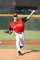 2007:  Dave Gassner of the Rochester Red Wings delivers a pitch at Frontier Field during an International League baseball game. Photo By Mike Janes/Four Seam Images