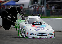 Sept. 30, 2012; Madison, IL, USA: NHRA funny car driver Jack Beckman during the Midwest Nationals at Gateway Motorsports Park. Mandatory Credit: Mark J. Rebilas-