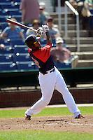 Portland Sea Dogs designated hitter Michael Almanzar #12  during a game versus the Altoona Curve at Hadlock Field in Portland, Maine on June 2, 2013. (Ken Babbitt/Four Seam Images)