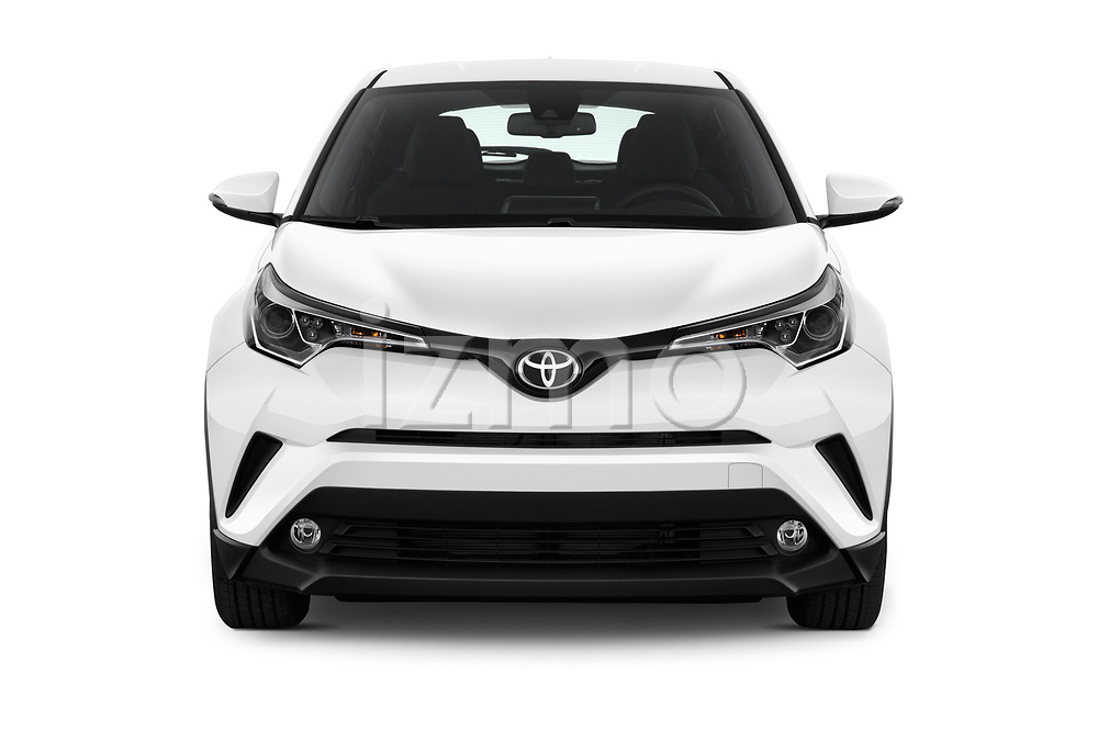 Car photography straight front view of a 2019 Toyota C-HR Limited Door SUV Front View