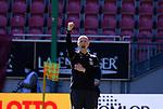 Fussball - 3.Bundesliga - Saison 2020/21<br /> Kaiserslautern -  Fritz-Walter-Stadion 03.04.2021<br /> 1. FC Kaiserslautern (fck)  - FC Halle (hal) 3:1<br /> Trainer Marco ANTWERPEN (1. FC Kaiserslautern) jubelt nach dem Schlusspfiff<br /> <br /> Foto © PIX-Sportfotos *** Foto ist honorarpflichtig! *** Auf Anfrage in hoeherer Qualitaet/Aufloesung. Belegexemplar erbeten. Veroeffentlichung ausschliesslich fuer journalistisch-publizistische Zwecke. For editorial use only. DFL regulations prohibit any use of photographs as image sequences and/or quasi-video.