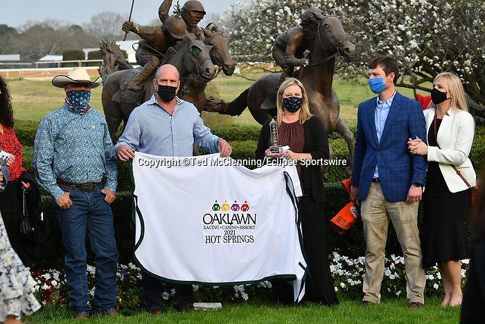 C Z Rocket #7, ridden by jockey Florent Geroux wins the listed Hot Springs Stakes for trainer Peter Miller at Oaklawn Park Casino and Resort in Hot Springs Arkansas on March 13, 2021. Ted McClenning/Eclipse Sportswire/CSM