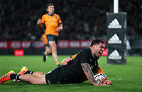 NZ's Codie Taylor scores during the Bledisloe Cup rugby match between the New Zealand All Blacks and Australia Wallabies at Eden Park in Auckland, New Zealand on Saturday, 14 August 2021. Photo: Simon Watts / lintottphoto.co.nz / bwmedia.co.nz