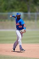 New York Mets Franklin Correa (49) during practice before a minor league Spring Training game against the Miami Marlins on March 26, 2017 at the Roger Dean Stadium Complex in Jupiter, Florida.  (Mike Janes/Four Seam Images)