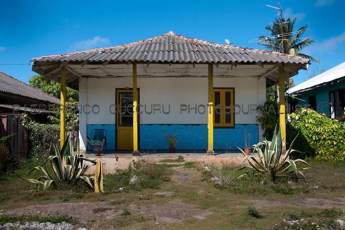 san miguel de los banos, cuba.  a village built around a sugar factory, nowadays closed. format houses personally interpretated by owners.