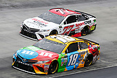 Monster Energy NASCAR Cup Series<br /> Food City 500<br /> Bristol Motor Speedway, Bristol, TN USA<br /> Monday 24 April 2017<br /> Kyle Busch, M&M's Toyota Camry Erik Jones, Sport Clips Toyota Camry<br /> World Copyright: Matthew T. Thacker<br /> LAT Images<br /> ref: Digital Image 17BMS1mt1453