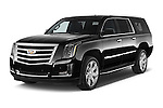 2017 Cadillac Escalade-ESV Luxury 5 Door SUV Angular Front stock photos of front three quarter view