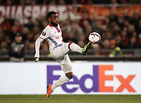 Football Soccer: Europa League Round of 16 second leg, Roma-Lyon, stadio Olimpico, Roma, Italy, March 16,  2017. <br /> Lyon's Alexandre Lacazette in action during the Europe League football soccer match between Roma and Lyon at the Olympique stadium, March 16,  2017. <br /> Despite losing 2-1, Lyon reach the quarter finals for 5-4 aggregate win.<br /> UPDATE IMAGES PRESS/Isabella Bonotto