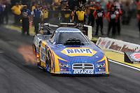 May 11, 2013; Commerce, GA, USA: NHRA funny car driver Ron Capps during the Southern Nationals at Atlanta Dragway. Mandatory Credit: Mark J. Rebilas-