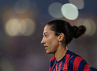 EAST HARTFORD, CT - JULY 1: Christen Press #11 of the USWNT runs to the corner during a game between Mexico and USWNT at Rentschler Field on July 1, 2021 in East Hartford, Connecticut.