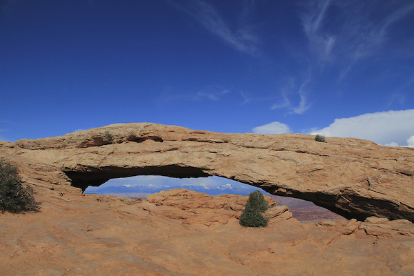 Afternoon at Mesa Arch in Canyonlands National Park, Utah, USA. .  John offers private photo tours in  Canyonlands National Park and throughout Utah and Colorado. Year-round.