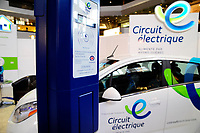 Electrical cars on display at Montreal du futur exhibit , Complexe Desjardins, on April 25, 2014.<br /> <br /> File Photo : Agence Quebec Presse   -  Philippe Nguyen