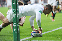 Jonny Mayof England scores a try in the opening minutes of the Quilter International match between England and Australia at Twickenham Stadium on Saturday 24th November 2018 (Photo by Rob Munro/Stewart Communications)