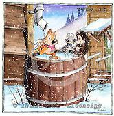 Fabrizio, Comics, CHRISTMAS SANTA, SNOWMAN, paintings, ITFZ16,#x# Weihnachten, Navidad, illustrations, pinturas