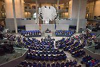 19. Sitzung des Deutschen Bundestag am Mittwoch den 14. Maerz 2018.<br /> Nachdem Angela Merkel zum vierten Mal in Folge zur Bundeskanzlerin gewaehlt wurde, kamen nach ihrer Ernennung durch den Bundespraesidenten die neuen Ministerinnen und Minster in den Bundestag.<br /> Im Bild: Das neue Kabinett hat vor den Abgeordneten Platz genommen.<br /> 14.3.2018, Berlin<br /> Copyright: Christian-Ditsch.de<br /> [Inhaltsveraendernde Manipulation des Fotos nur nach ausdruecklicher Genehmigung des Fotografen. Vereinbarungen ueber Abtretung von Persoenlichkeitsrechten/Model Release der abgebildeten Person/Personen liegen nicht vor. NO MODEL RELEASE! Nur fuer Redaktionelle Zwecke. Don't publish without copyright Christian-Ditsch.de, Veroeffentlichung nur mit Fotografennennung, sowie gegen Honorar, MwSt. und Beleg. Konto: I N G - D i B a, IBAN DE58500105175400192269, BIC INGDDEFFXXX, Kontakt: post@christian-ditsch.de<br /> Bei der Bearbeitung der Dateiinformationen darf die Urheberkennzeichnung in den EXIF- und  IPTC-Daten nicht entfernt werden, diese sind in digitalen Medien nach §95c UrhG rechtlich geschuetzt. Der Urhebervermerk wird gemaess §13 UrhG verlangt.]