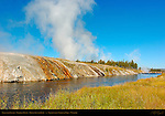 Excelsior Geyser, Firehole River, Midway Geyser Basin, Yellowstone National Park, Wyoming