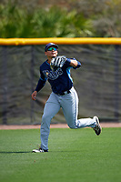 Tampa Bay Rays David Olmedo-Barrera (31) during a minor league Spring Training game against the Boston Red Sox on March 23, 2016 at Charlotte Sports Park in Port Charlotte, Florida.  (Mike Janes/Four Seam Images)