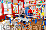 Kieran O'Toole, principal of Scoil Eoin Balloonagh primary school in Tralee cetting classrooms ready with caretaker Leonard Tuohy.