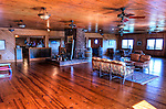 View of the warm, wood-lined tasting room at Stone Mountain Vineyards (HDR image).