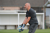 goalkeeper coach Donald Kuhn of KRC Genk  pictured during a female soccer game between SV Zulte - Waregem and KRC Genk on the second matchday of the 2021 - 2022 season of Belgian Scooore Womens Super League , saturday 28 of August 2021  in Zulte , Belgium . PHOTO SPORTPIX   DIRK VUYLSTEKE