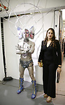 Darrell Thorne and Leah Lane attends the ChaShaMa 'Open Studios' Opening Night Reception on October 12, 2018 at the Brooklyn Army Terminal in Brooklyn, New York.