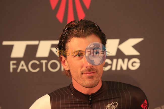 Fabian Cancellara (SUI) Trek Factory Racing Team press conference before the 2014 Tour de France. 3rd July 2014.<br /> Picture: Eoin Clarke www.newsfile.ie