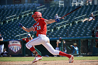 Benny Montgomery (26) bats during the Baseball Factory All-Star Classic at Dr. Pepper Ballpark on October 4, 2020 in Frisco, Texas.  Benny Montgomery (26), a resident of Lewisberry, Pennsylvania, attends Red Land High School.  (Mike Augustin/Four Seam Images)