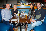 Philomena Templeman from Castleisland celebrating her 60th birthday in the Ashe Hotel on Saturday. Seated l to r: Robert and Philomena Templeman, Jasmine Shah and Darragh Templeman.