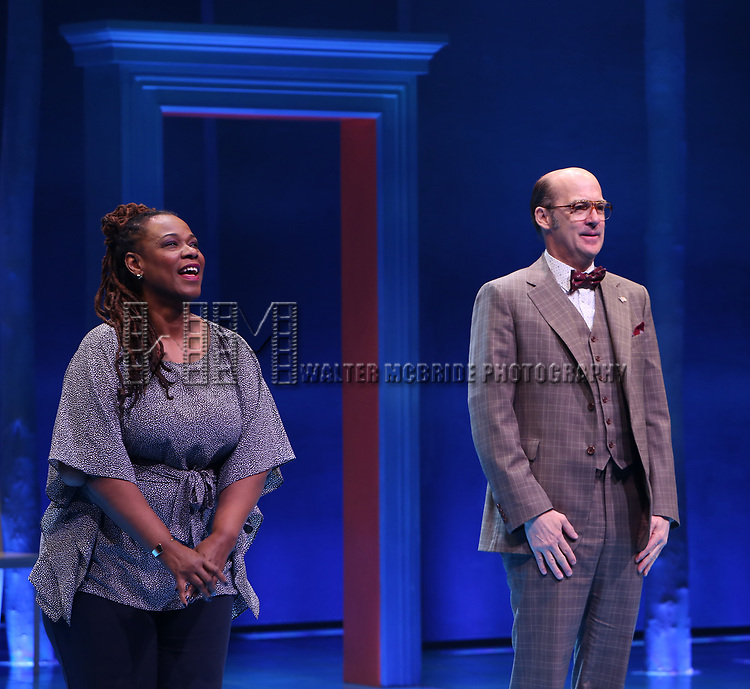 Kecia Lewis and Anthony Edwards during the Broadway opening night performance Curtain Call for 'Children of a Lesser God' at Studio 54 Theatre on April 11, 2018 in New York City.