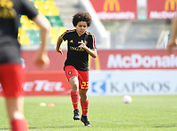 20190227 - LARNACA , CYPRUS :  Belgian Kassandra Missipo pictured during a women's soccer game between the Belgian Red Flames and Slovakia , on Wednesday 27 February 2019 at the AEK Arena in Larnaca , Cyprus . This is the first game in group C for Belgium during the Cyprus Womens Cup 2019 , a prestigious women soccer tournament as a preparation on the Uefa Women's Euro 2021 qualification duels. PHOTO SPORTPIX.BE | DAVID CATRY