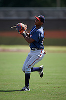 Atlanta Braves Cristian Pache (54) during practice before an instructional league game against the Houston Astros on October 1, 2015 at the Osceola County Complex in Kissimmee, Florida.  (Mike Janes/Four Seam Images)