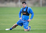 St Johnstone Training…..21.10.16<br />Michael Coulson pictured during training ahead of Sunday's game against local rivals Dundee<br />Picture by Graeme Hart.<br />Copyright Perthshire Picture Agency<br />Tel: 01738 623350  Mobile: 07990 594431