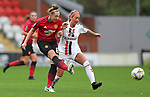 Aimee Palmer of Manchester United Women and Hannah Churchill of Charlton Athletic Women