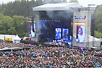 Foo Fighters on stage at Slane Castle backing up the Foo Fighters.<br /> Picture www.newsfile.ie