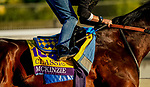 October 28, 2019 : Breeders' Cup Classic entrant McKinzie, trained by Bob Baffert, exercises in preparation for the Breeders' Cup World Championships at Santa Anita Park in Arcadia, California on October 28, 2019. John Voorhees/Eclipse Sportswire/Breeders' Cup/CSM