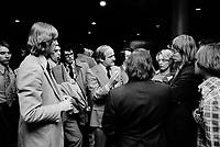le chef de l'Union Nationale Gerard Loubier, le 18 Mai 1973<br /> <br /> <br /> PHOTO : Agence Quebec Presse - Alain Renaud